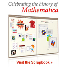 Celebrating the history of Mathematica... Visit the Scrapbook