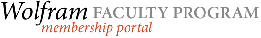 Wolfram Faculty Program Membership Portal