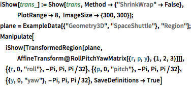 Roll, Pitch, and Yaw Rotations: New in Wolfram Language 11
