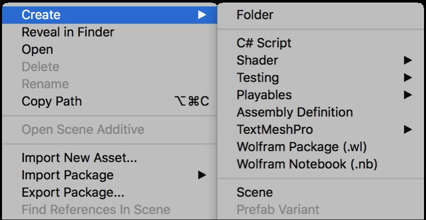 Custom Wolfram Menus in Unity Editor: New in Wolfram Language 12