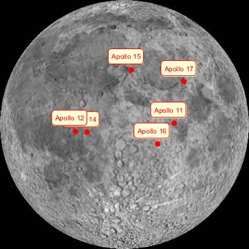 location moon map landing site apollo 12 - photo #11