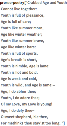 crabbed age and youth essays