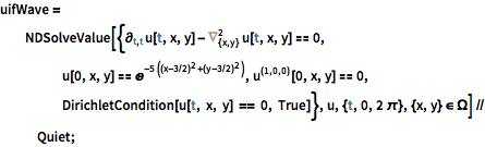 Solve a Wave Equation in 2D: New in Mathematica 10