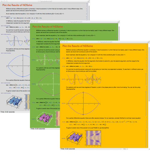 themes following notebook style new in mathematica 10