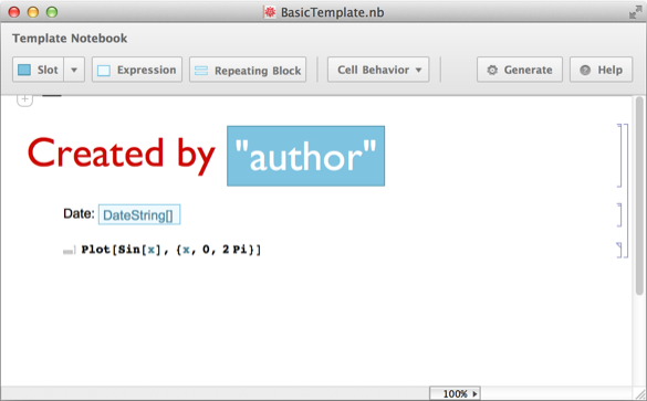 Generate a Notebook from a Template: New in Mathematica 10