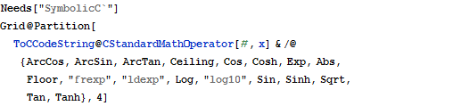 Support For Standard Math Operators New In Mathematica 8