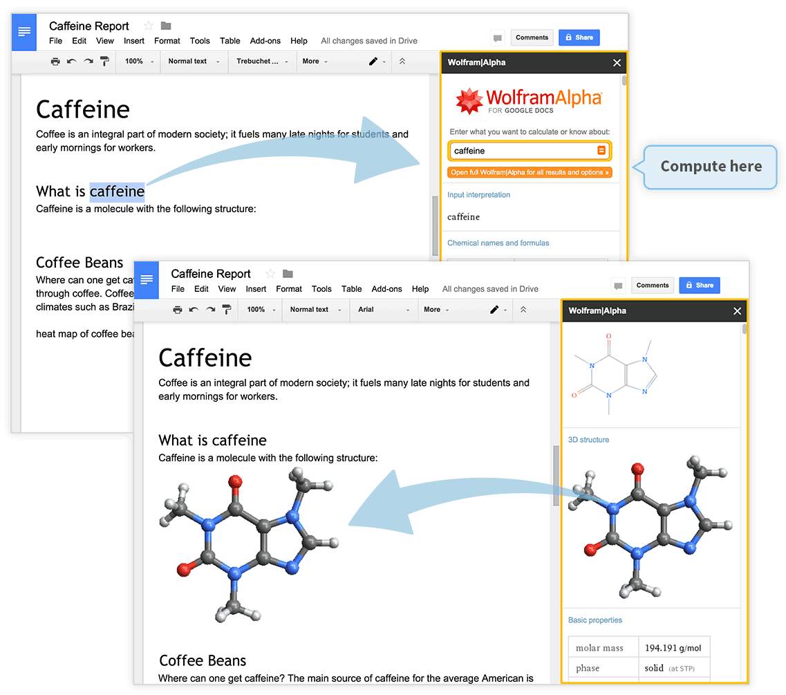 Wolfram Alpha Add Ons For Google Drive